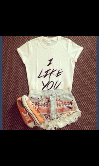aztec aztec short i like you shirt