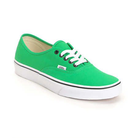 20246277d33040 Vans Authentic Bright Green Shoe at Zumiez   PDP
