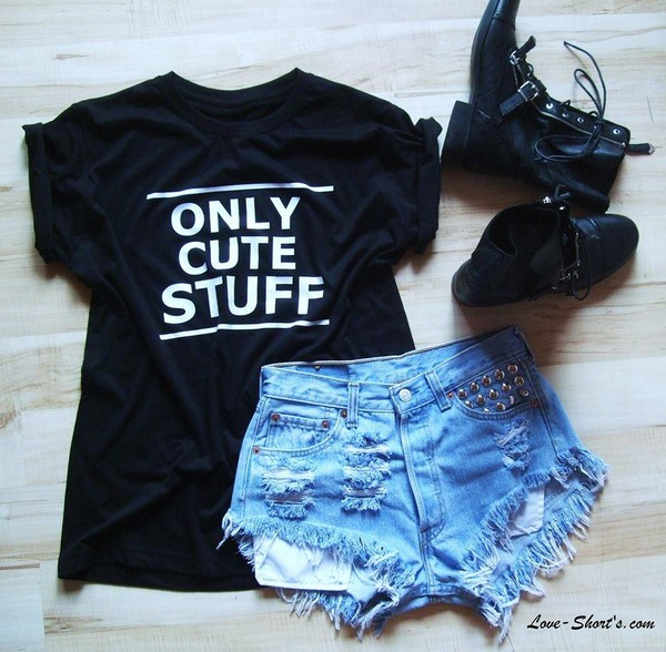 shorts High waisted shorts t-shirt