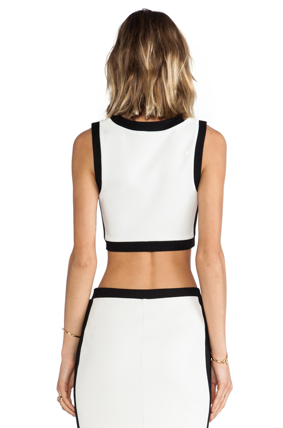 Bailey 44 Camaroon Crop in Alabaster/Black from REVOLVEclothing.com