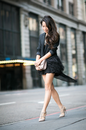 wendy's lookbook,blogger,black jacket,feathers,Valentino,top,jacket,bag,shoes,jewels