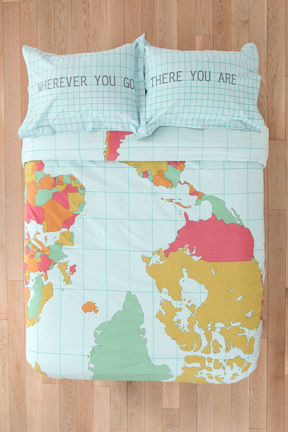 home accessory bedding quote on it valentines day gift idea map print