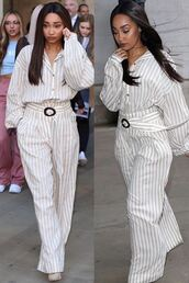 pants,stripes,striped pants,leigh-anne pinnock,leigh anne,instagram,celebrity,top,suit