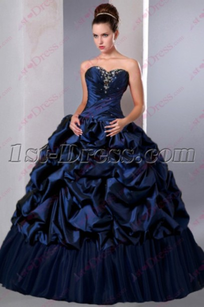 bc7db5ea46 dress navy dress sweet 15 gown 2016 quinceanera dresses