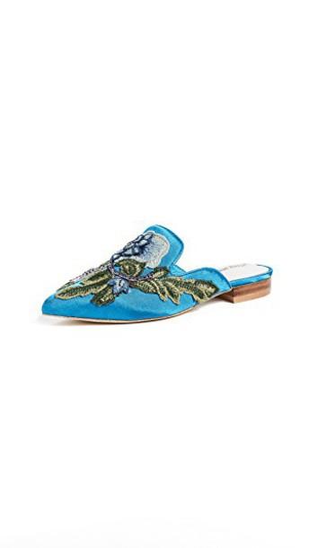 Jeffrey Campbell mules blue shoes