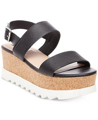 1b19b3a57ec Steve Madden Women's Krista Flatform Sandals - Sandals - Shoes - Macy's
