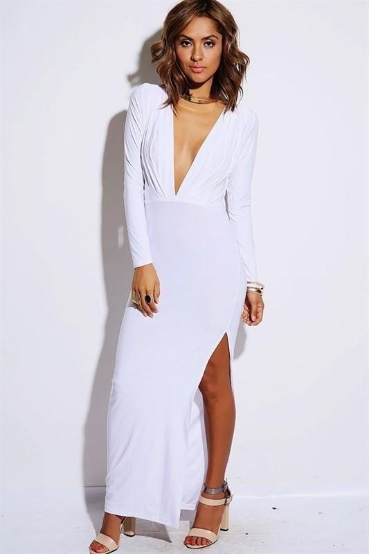 Sexy deep v cute back design dress