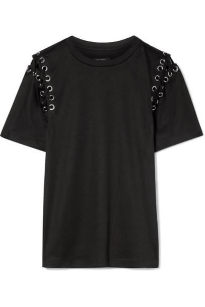 Isabel Marant t-shirt shirt t-shirt lace cotton black top
