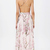 Apricot Florals V-neck Spaghetti Straps Backless Maxi Dress - Sheinside.com