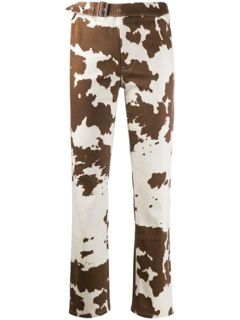 Miaou Cow Print Trousers - Farfetch