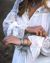 jewels,bracelets,rings and tings,sunglasses,shirt