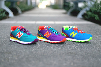 colorblock neon safari new balance sneakers new balance