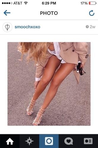 cute tie up heels tie up nude heels beautiful style fashion love shoes