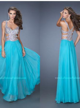 cut-out dress blue dress sequin prom dresses