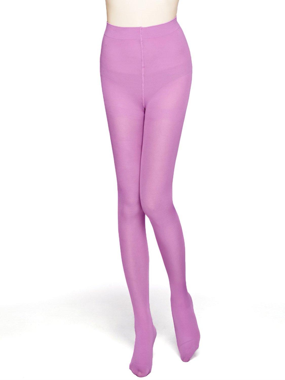 64662f4b7 MOOCHI Women 80 Denier Semi Opaque Tights (Purple) at Amazon ...
