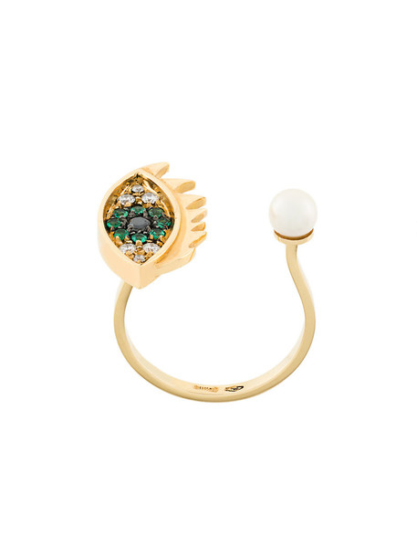 Delfina Delettrez women ring gold grey metallic jewels