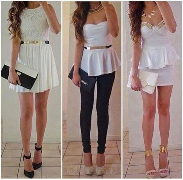 blouse dress shoes shirt all 3 of them pants