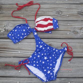 swimwear american flag american amazinglace red white and blue monokini
