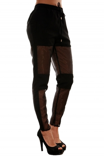 Time Machine Black Mesh Pants - JuJu's Closet