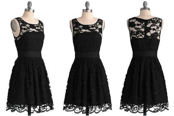 Flash sale!!! black lace dresses, short lace bridesmaid dresses, sheer bridesmaid dresses on sale, black homecoming dresses 5214