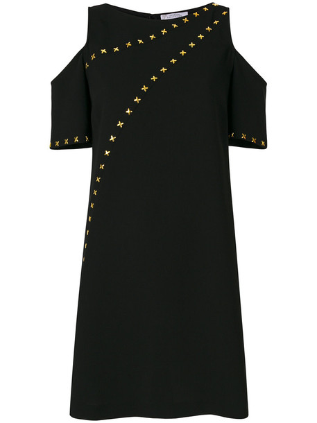 Versace Collection dress studded women cold black