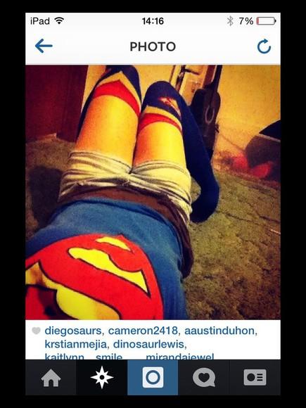 superman socks marvel super girl dc comics