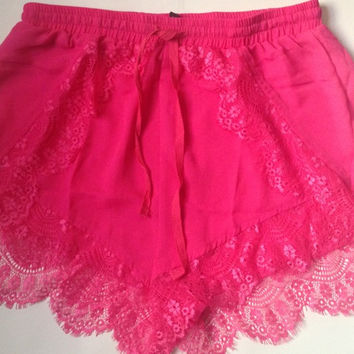 Hot Pink Shorts — Bib   Tuck on Wanelo
