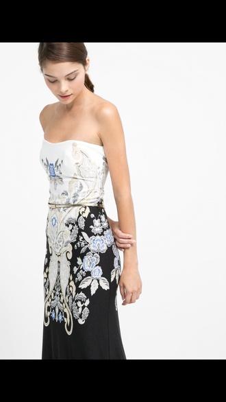 dress mango baroque dress maxi dress