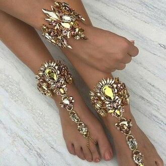 jewels jewel barefoot sandals weheartit