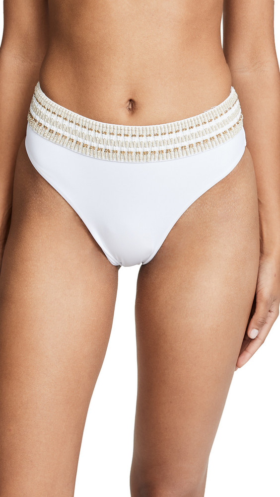 Peixoto Zoni High Waist Bikini Bottoms in white
