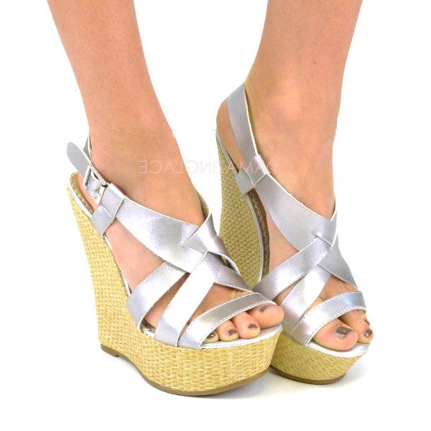 235ee454628 shoes wedges silver wedges open toe wedges wedge sandals wedge heel spring  outfits summer outfits