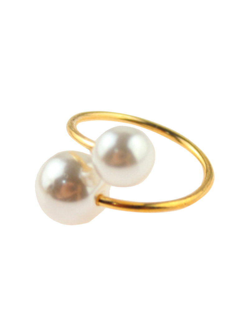 Pearl Bangle Bracelet and Ring Pack - Choies.com