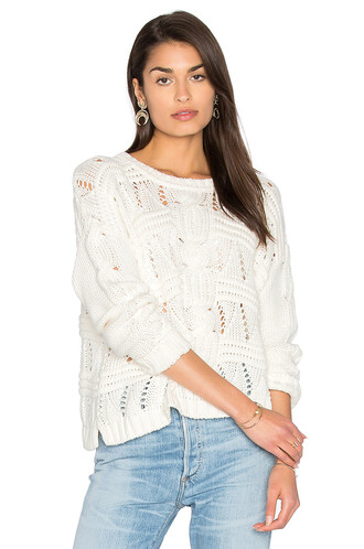 sweater knit white