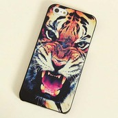 jewels,tiger,iphone,phone cover,photography print