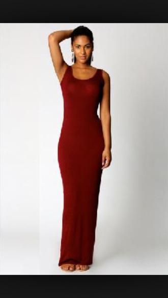 dress maxi dress burgundy long dress.