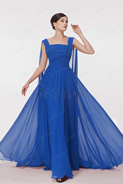 Long chiffon dresses plus size