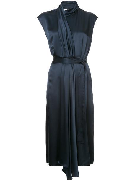 Tome dress women blue silk