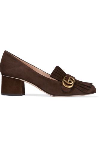 suede pumps pumps suede brown shoes