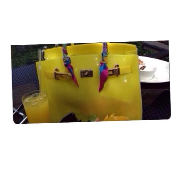 Bag: birkin, beach, rubber, silicone, birkin bag, fashion, stylish ...
