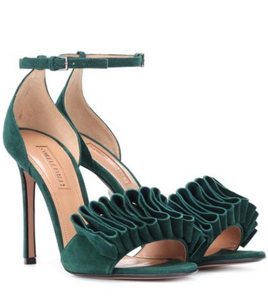 Samuele Failli Alexandra 105 suede sandals in green