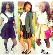 dress,navy,overalls,skirt,cute,lovely,dope,school uniform