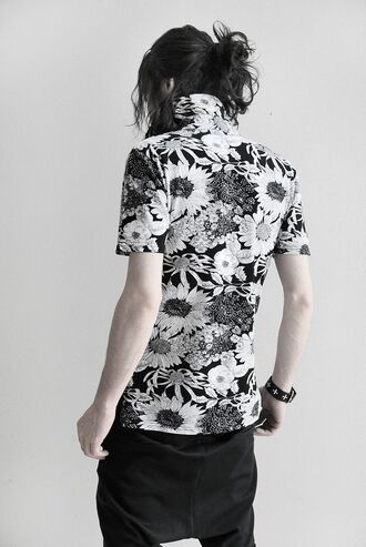 shirt samurai sweatpants flowers sleeves shift