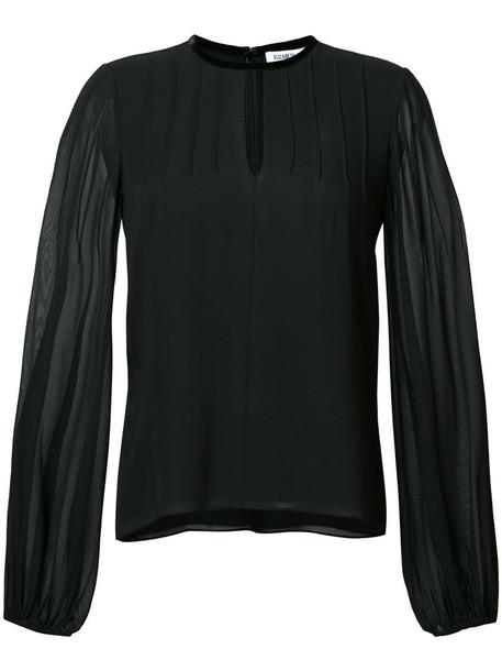 Elizabeth And James - sheer sleeve blouse - women - Silk/Polyester - M, Black, Silk/Polyester