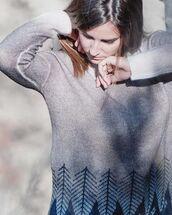 sweater,jacquard sweater,fairisle sweater