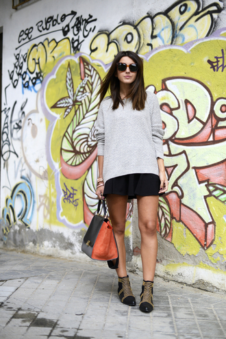 lovely pepa sweater skirt bag shoes jewels sunglasses
