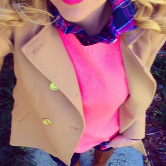 shirt blouse plaid pink and blue plaid button up pink pink sweater sweater