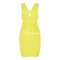 Yellow sexy dress - bqueen sexy cut out bandage | ustrendy