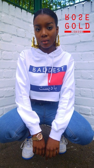 sweater streetwear cropped sweater cropped hoodie white sweater hoodie