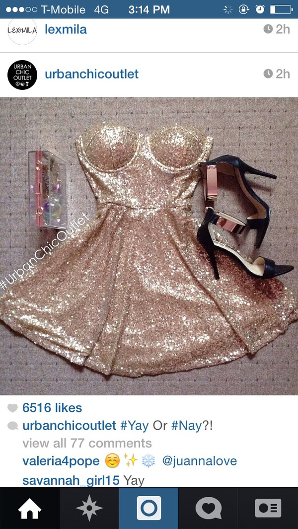 dress gold sequins dress