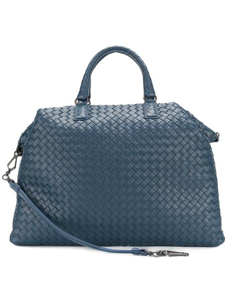 Bottega Veneta - intrecciato tote bag - women - Lamb Skin - One Size, Blue, Lamb Skin
